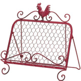 Red-Iron Rooster Cookbook & Tablet Stand - Holt Bros. Mercantile  - 3