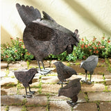 Rusted-Metal Hen & Family Sculpture - Holt Bros. Mercantile  - 1