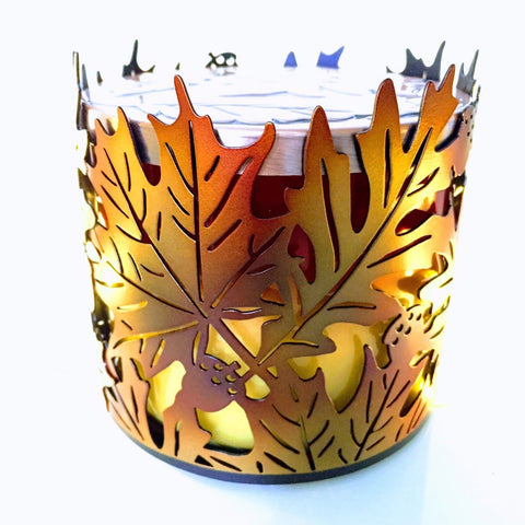 Fall Leaves Candle Holder