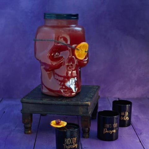 Glass Skull Drink Dispenser