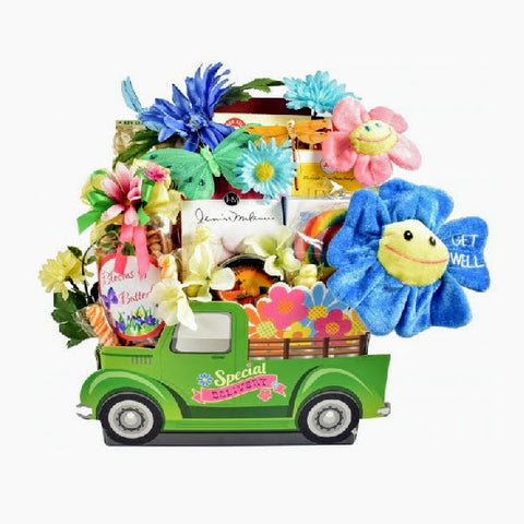 Flower Power Get Well Soon Gift Basket