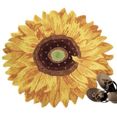 Hand-Hooked Sunflower Rug - Holt Bros. Mercantile