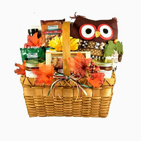 Woodland Owl Fall Lovers Gift Basket