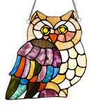 Stained Glass Window Panel - Owl - Holt Bros. Mercantile  - 3