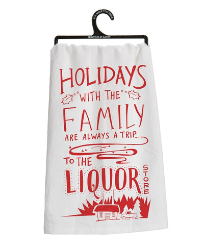 Holidays With Family Tea Towel - Holt Bros. Mercantile