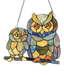 Stained Glass Window Panel - Friendly Owls - Holt Bros. Mercantile  - 2