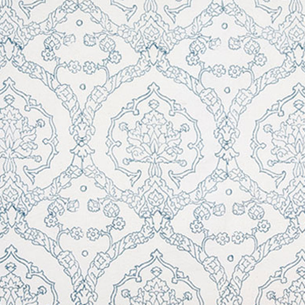 MED BLUE TRELLIS OUTLINE OXFORD