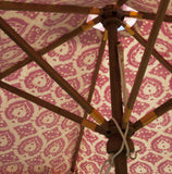 Garden Umbrella Trellis Burnt Spice