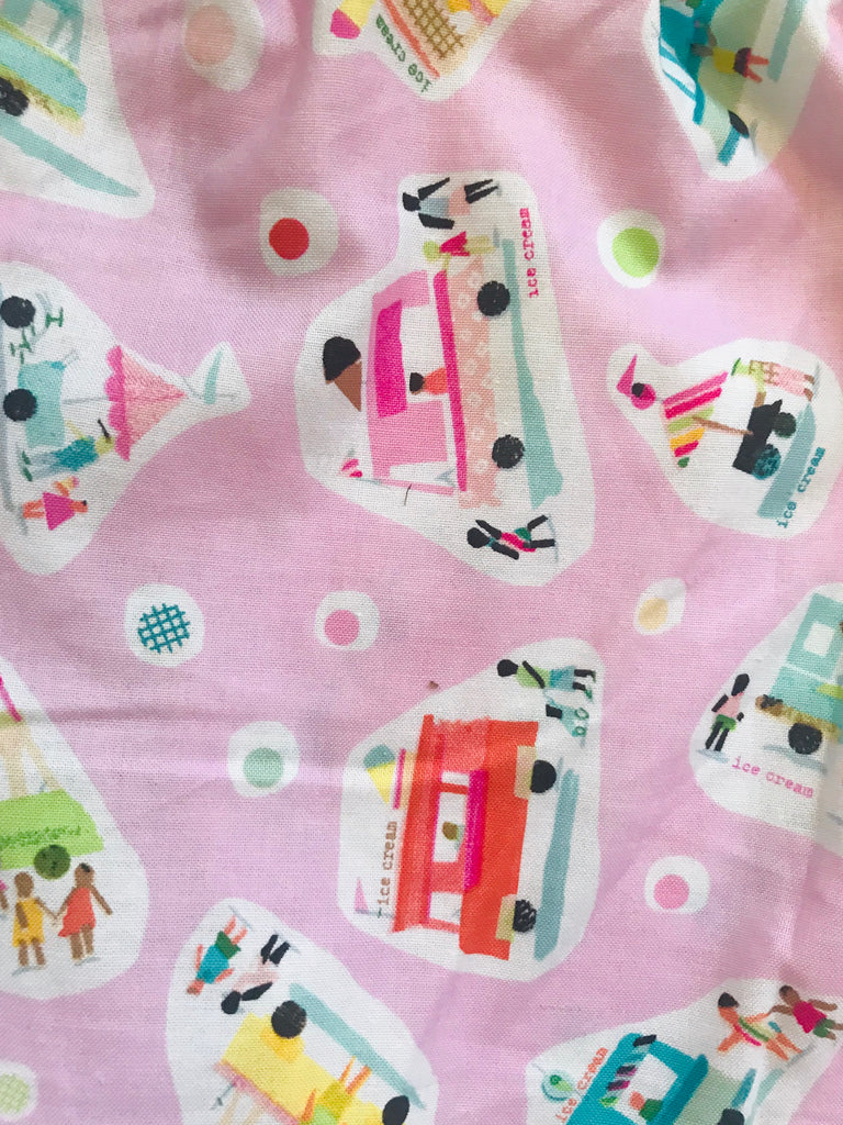 Women's BOXERS -Cotton Pink Ice-Cream Trucks