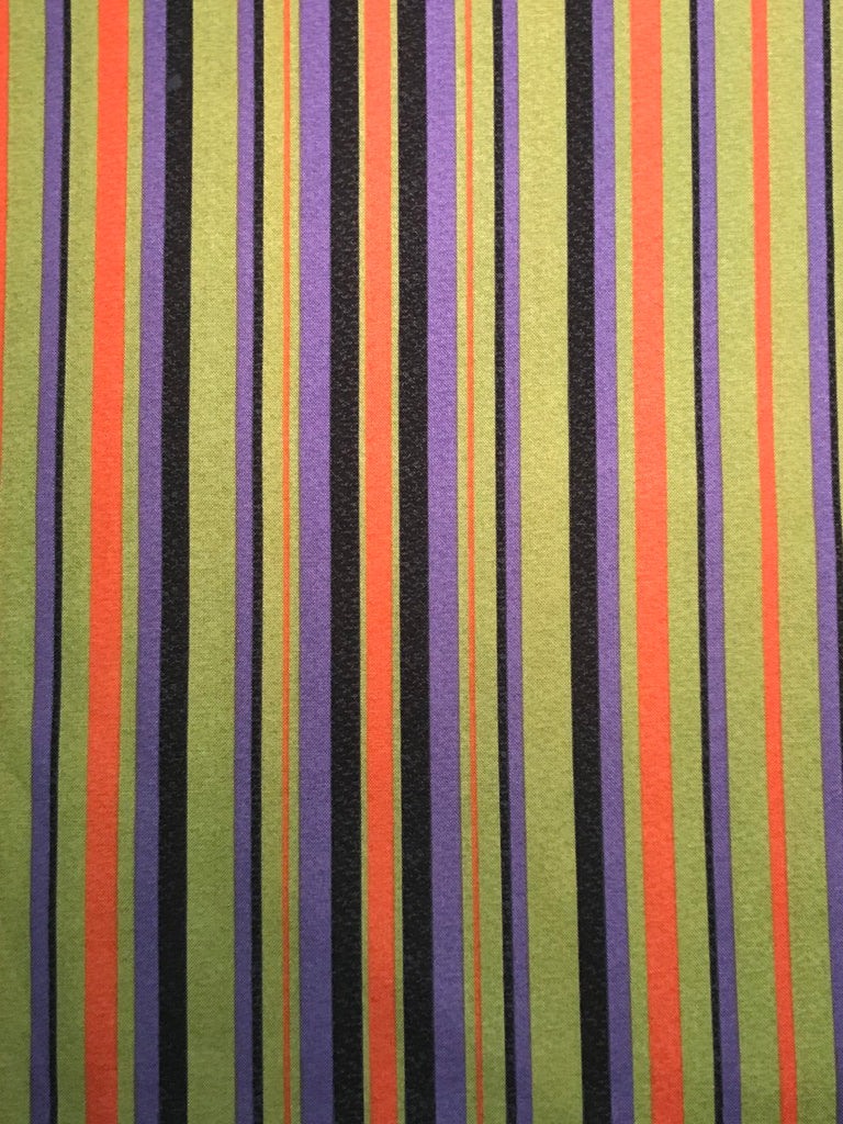 Cotton Pant - Green, Orange & Purple Stripes
