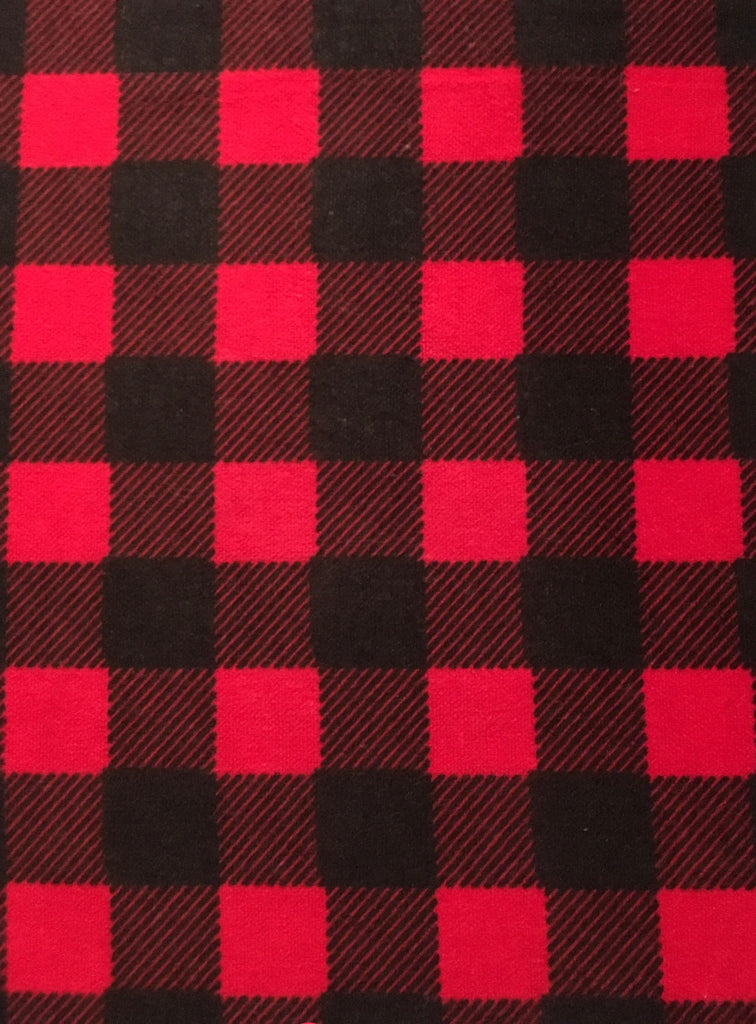 Unisex Flannel SHORTS -  Red Buffalo Check