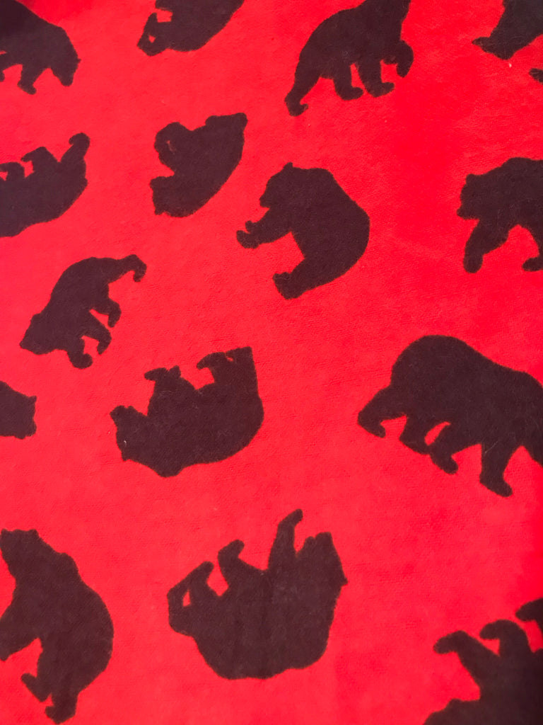 Flannel Pants - Red Bear
