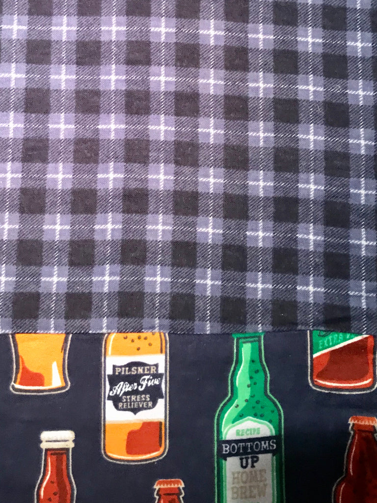 Flannel Pant - Blue Plaid w/ Beer