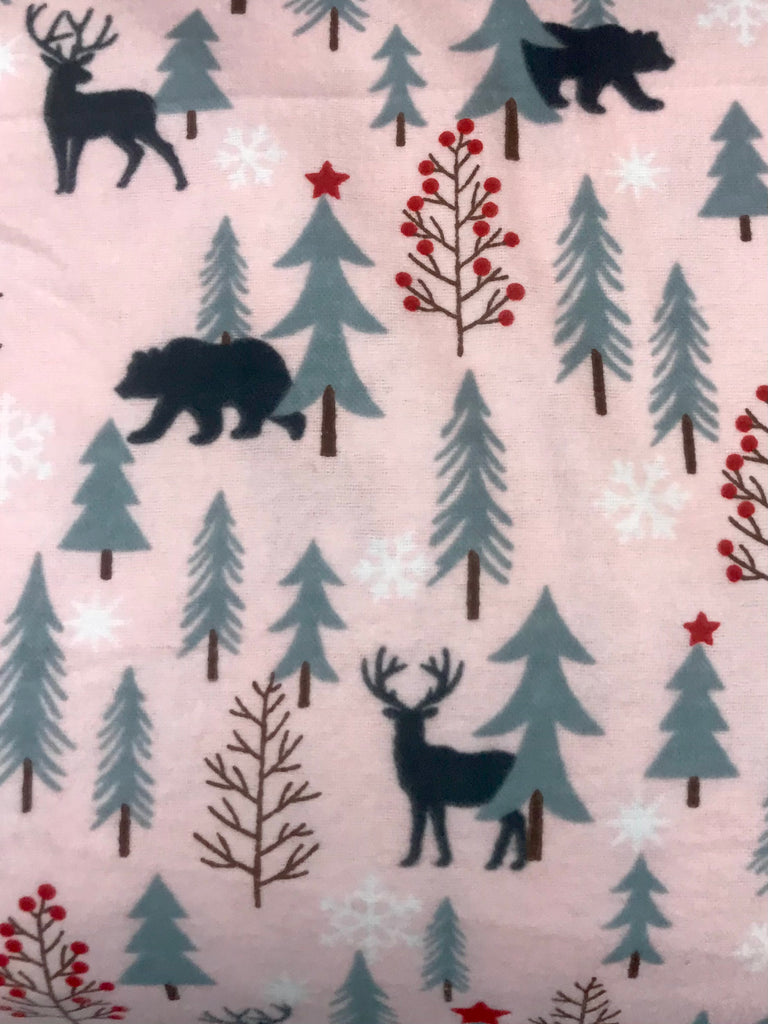 Flannel Pant - Pink Deer & Bear