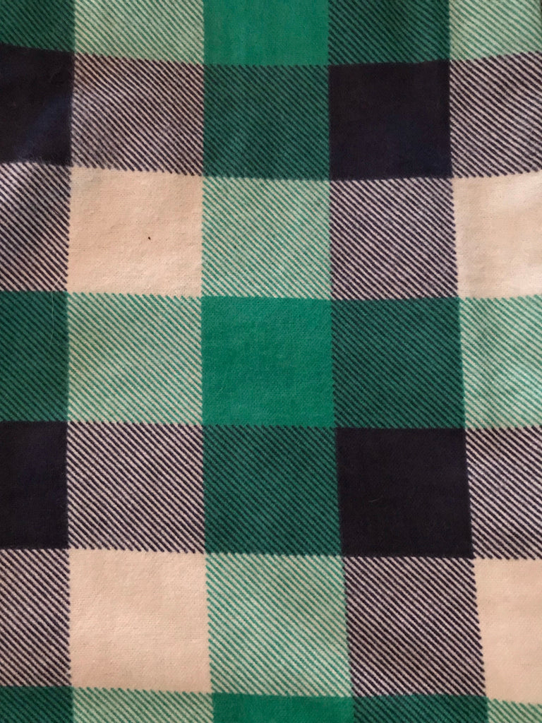 Flannel Pants - Green/Blue Check
