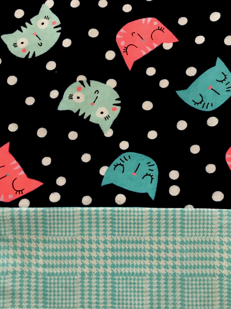 Flannel Pant - Neon Cats w/ Turquoise