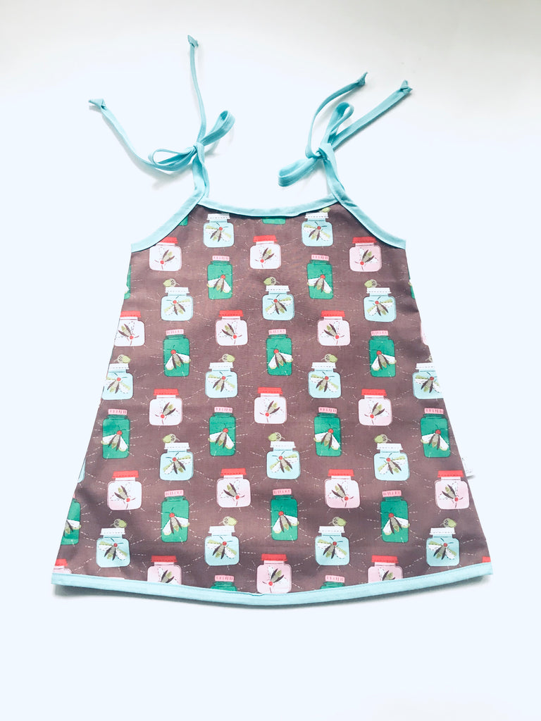 Reversible Dresses - Bugs w/ Red Flower