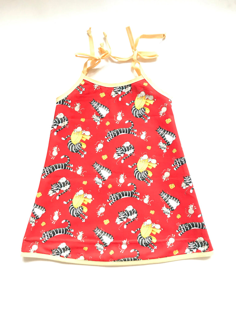 Reversible Dresses - Cats w/ Chevron