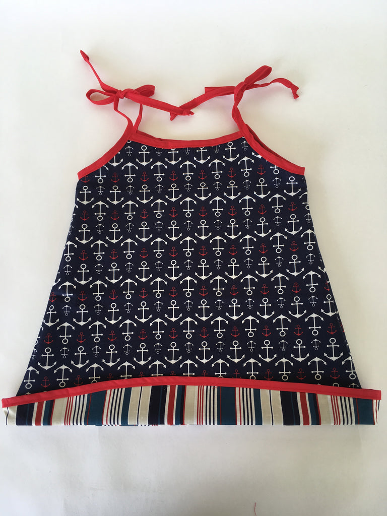 Reversible Dresses - Navy Anchor w/ Stripe