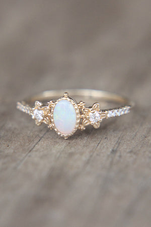 Moonmist Flower Ring