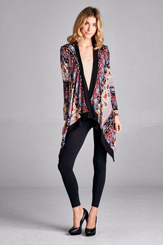 Bohemian Beauty Cardigan in Black
