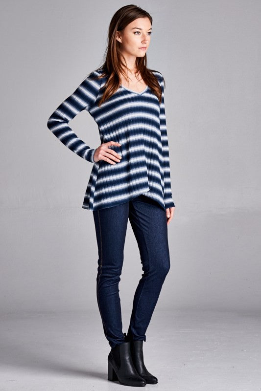 Shades of Sky Striped Shirt