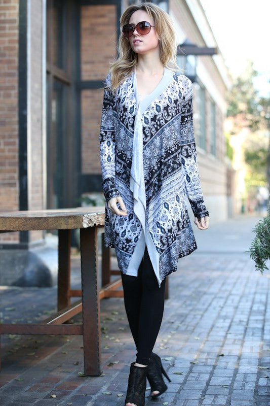 Bohemian Beauty Cardigan in Grey