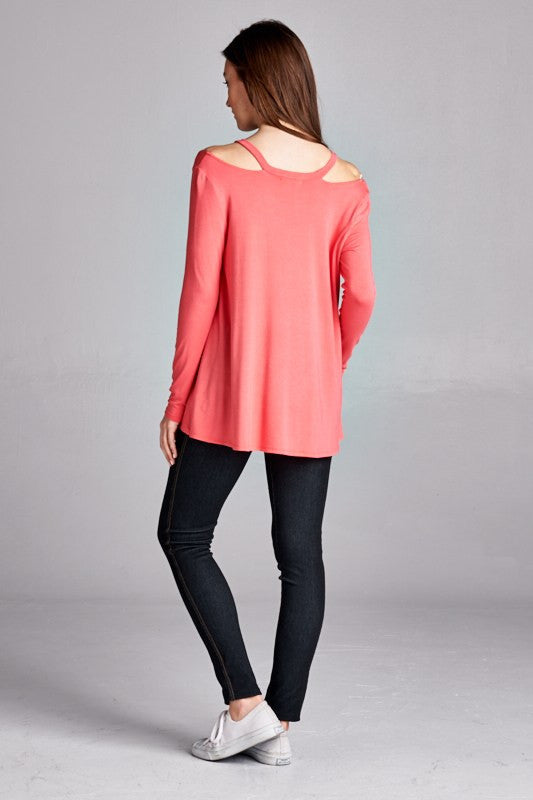 Spring Breeze Top in Coral