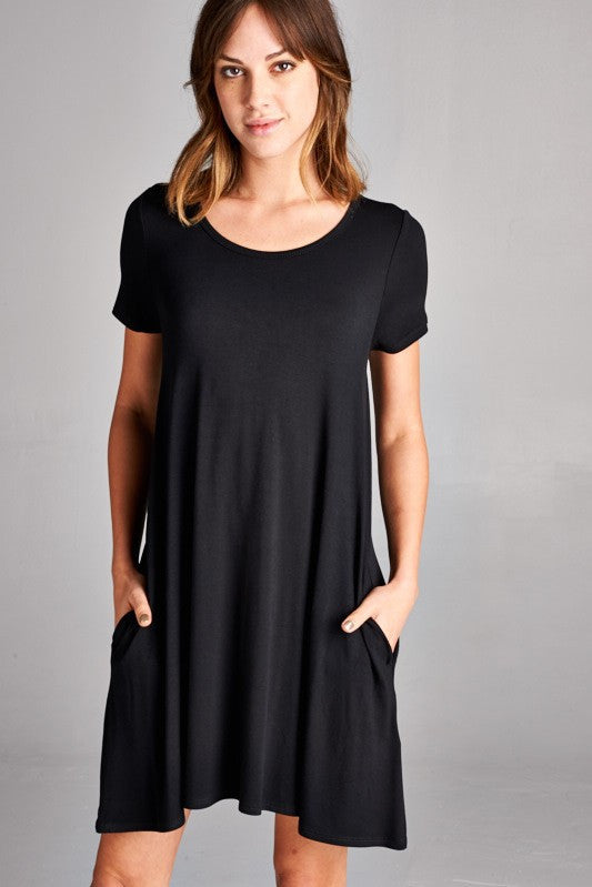 Easygoing Swing Dress in Black