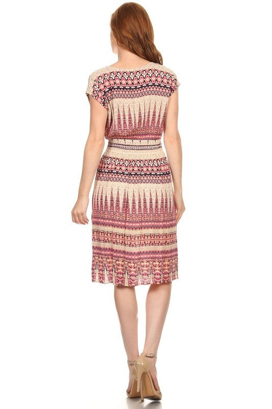 American Made Women's Smocked Waist Dress Back View