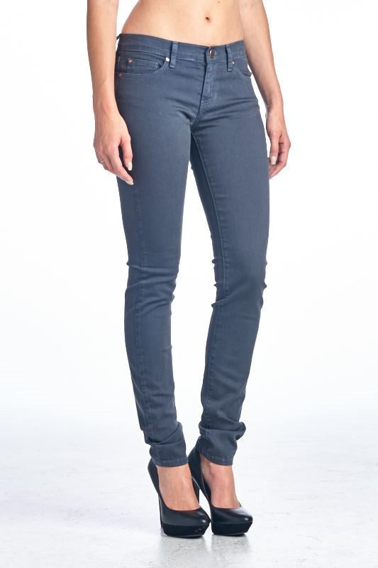 American Made Women's Grey Skinny Jeans from Angry Rabbit Front