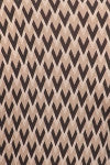 American made women's taupe chevron print faux wrap dress pattern