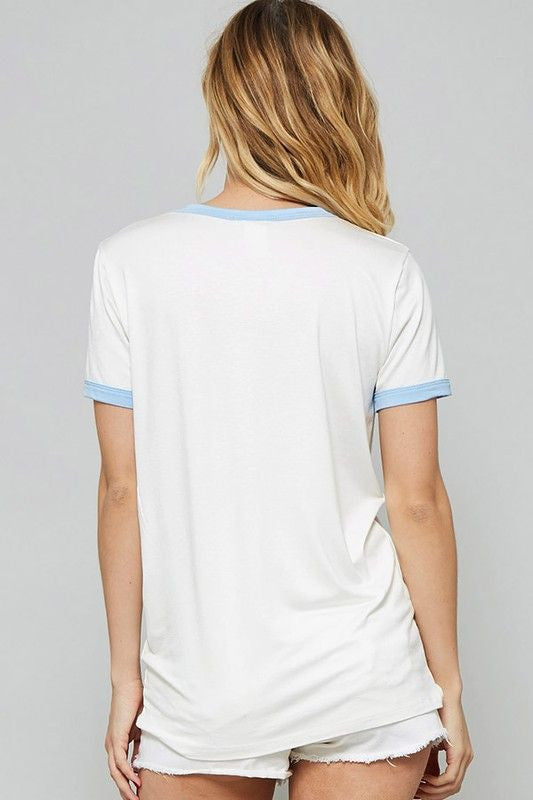 American Made Women's White Anti Social Tee Back