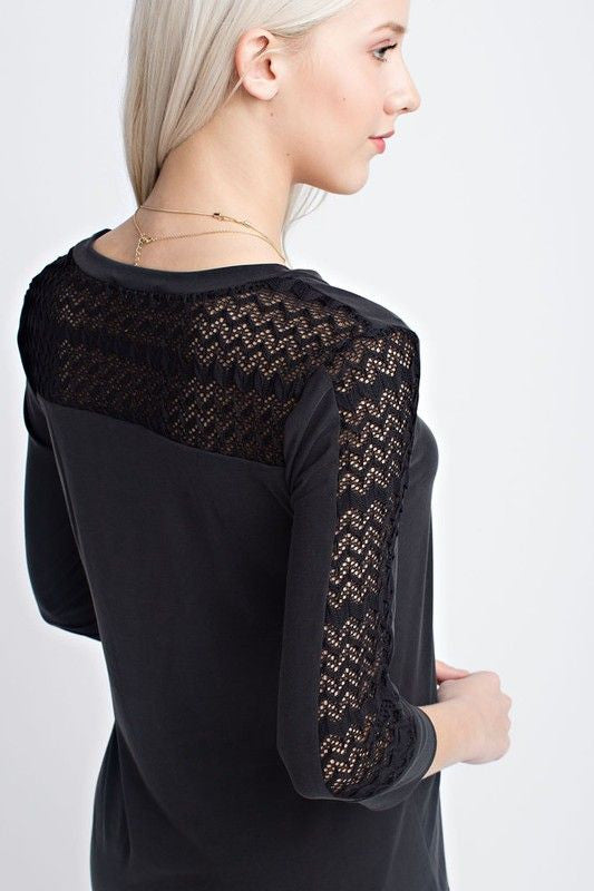 Lovely Lace Top in Black