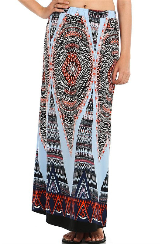 Tangled in Blue Maxi Skirt