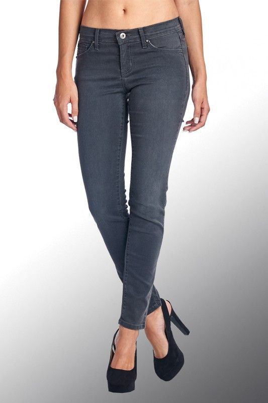 American Made Women's Grey Ankle Skinny Jeans Front