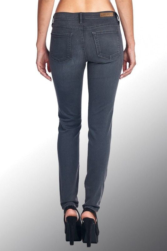 American Made Women's Grey Ankle Skinny Jeans Back