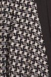 American Made Women's Black Fit and Flare Houndstooth Print Dress Closeup