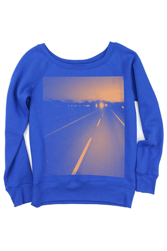 American Made Women's Handprinted Open Road Sweatshirt