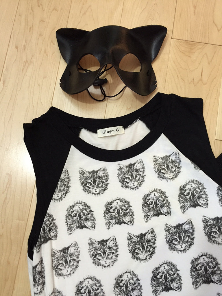 Cat in the Noir Sleeveless Top
