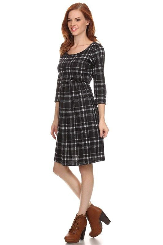 Plaid to Meet You Sweater Dress