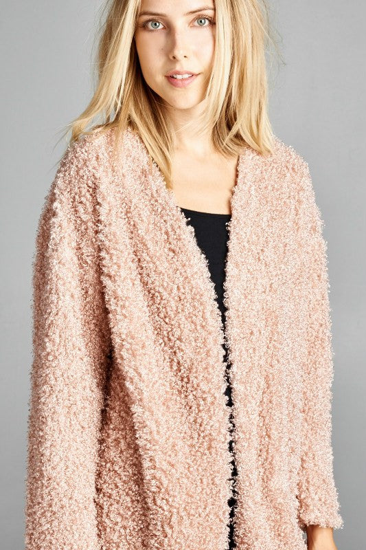 Pretty in Pink Sweater Jacket