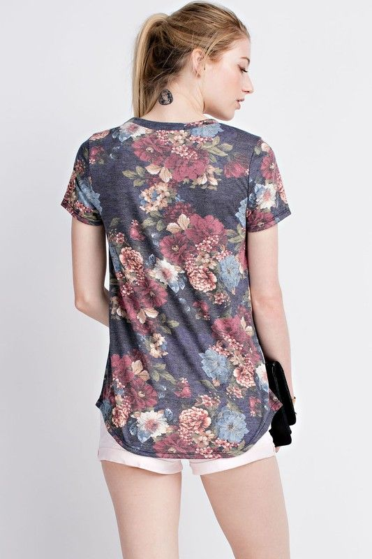 American Made Women's Rich Floral Top Backup