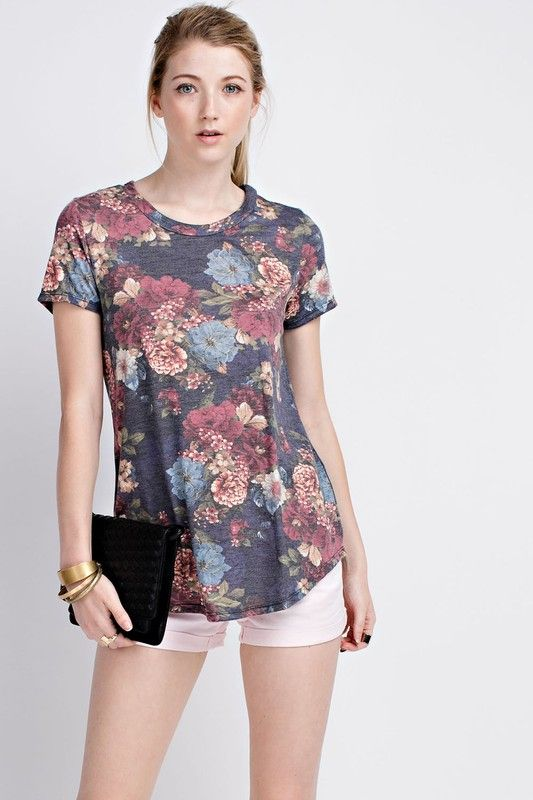 American Made Women's Rich Floral Top