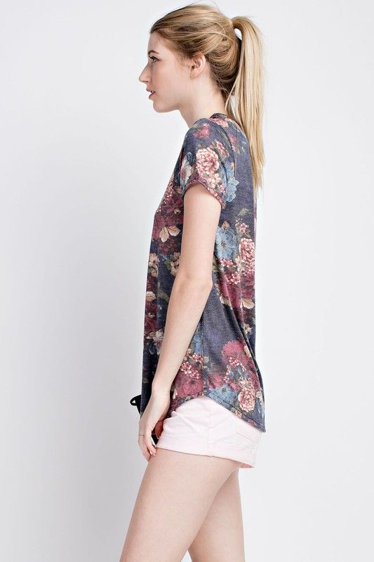 American Made Women's Rich Floral Top Side