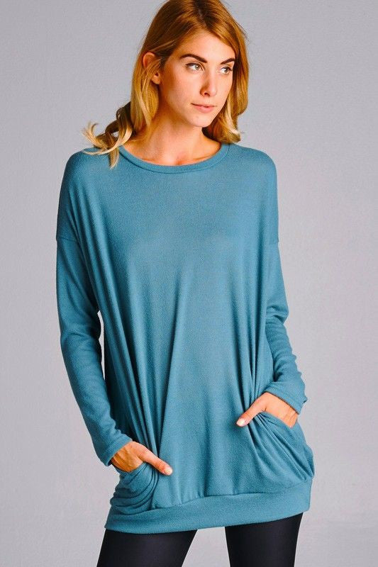 Seriously Soft Tunic in Blue
