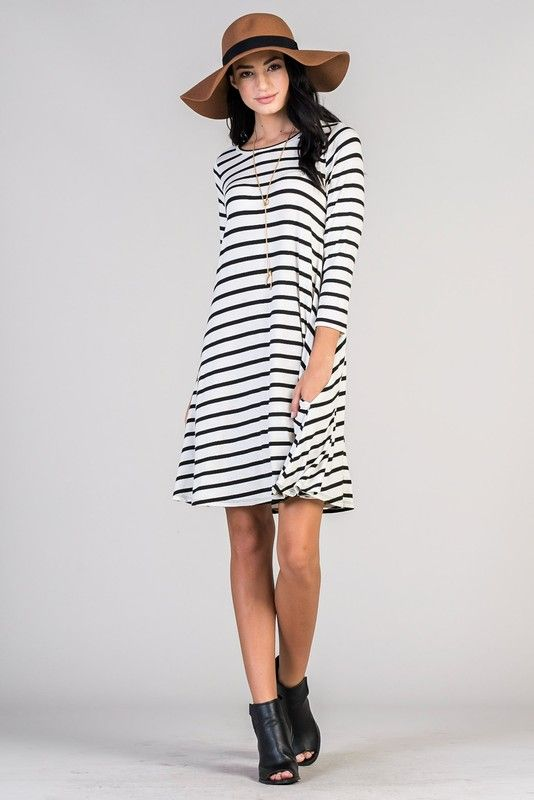 Simply Striped Swing Dress