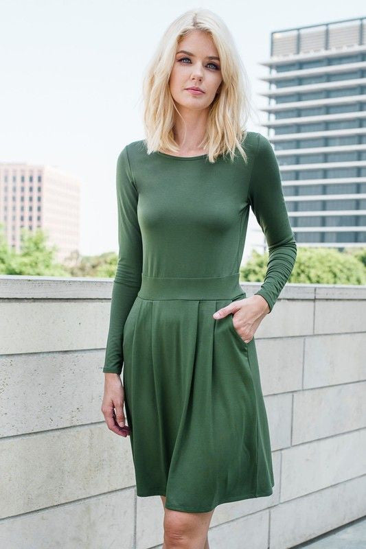 American Made Women's Green Skater Dress