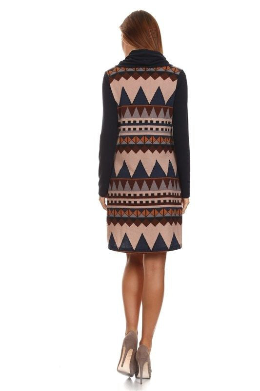 Southwestern Sunset Sweater Dress