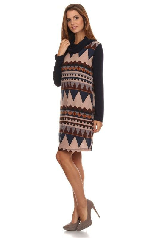Southwestern Skyline Sweater Dress